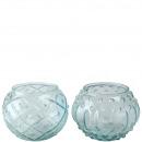 wholesale Wind Lights & Lanterns: Glass lantern Tiana , 2 motifs: dots and rhombus